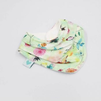 girls bandana bibs birds print
