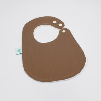 handmade bibs burnt almond colour