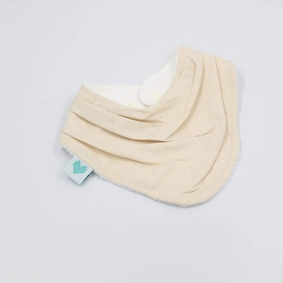handmade dribble bibs oatmeal colour