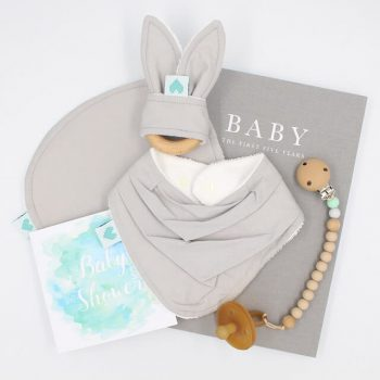 luxury baby shower present grey colour