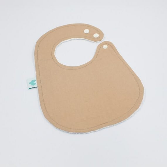 newborn bib tan brown colour