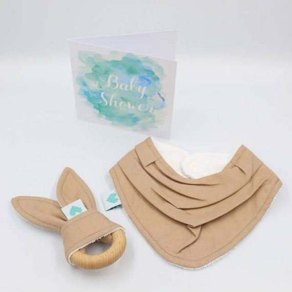 newborn gift set tan brown