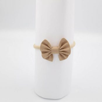 newborn headbands tan brown colour