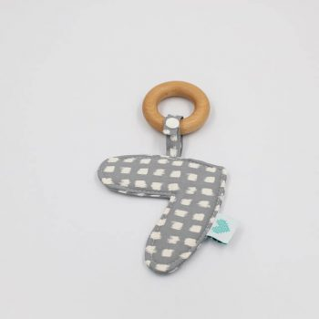 Newborn teether in shadow print