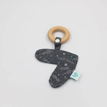 newborn teethers in space print