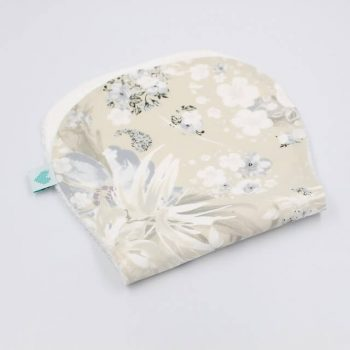 Spit up cloths in snowy bloom print