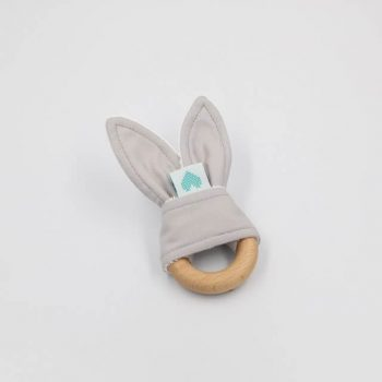 teething ring grey