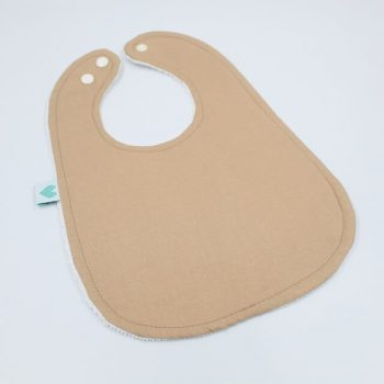 Toddler bibs in tan brown