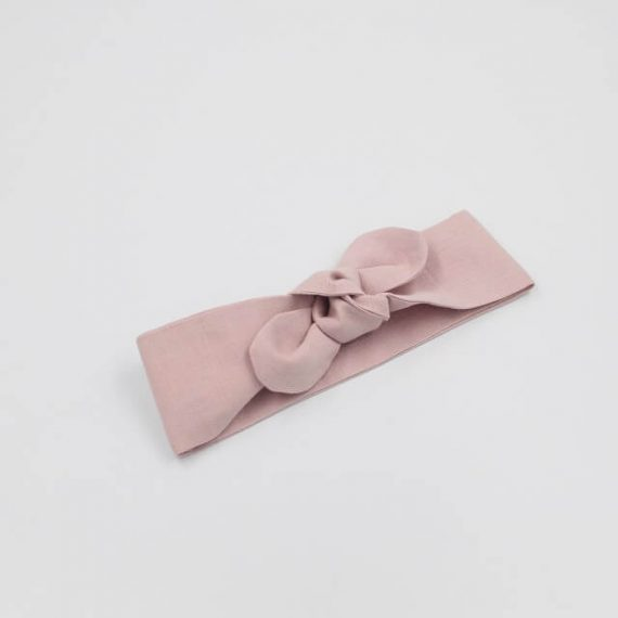 top knot baby dusty pink