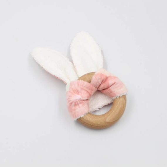 Bunny Teething Ring Back Blossoms