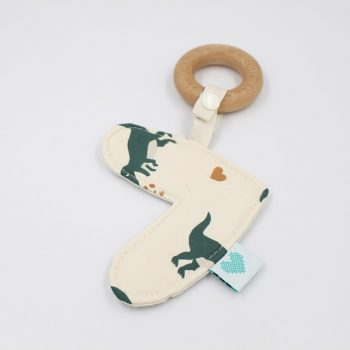 love heart teether dinosaurs